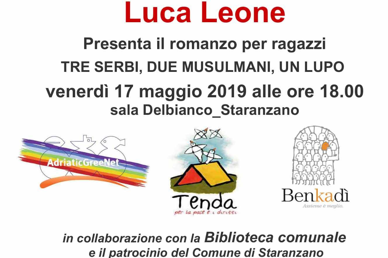"""Presentazione del libro """"Tre serbi, due musulmani, un lupo"""" di Luca Leone"""